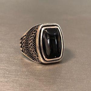 Handmade Onyx Stone 925 Sterling Silver Ring